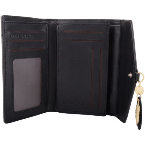 Femmes//Femmes en cuir synthétique RFID protégé Tri-Fold Argent//Coin holder//Sac à main