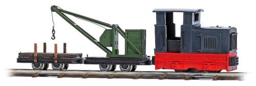 HS Busch 12118 Feldbahn Kranzug mit Diesellok Gmeinder 15/18