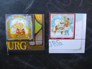 2017-LUXEMBOURG-CHRISTMAS-SET-OF-2-MINT-STAMPS