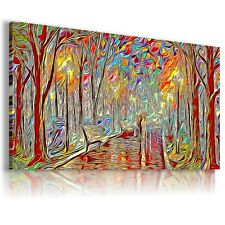 PAINTING MAGIC FOREST PARK PRINT Canvas Wall Art Abstract Picture  237  MATAGA .