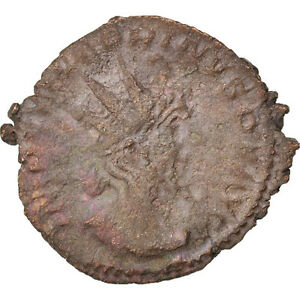 #65846 50-53 Cohen #118 Billon Au Qualified Victorinus 2.50 Antoninianus