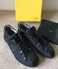 FENDI Navy/Black FF Women's Trainers Sneakers IT 38 UK 6 FR 39 US 8
