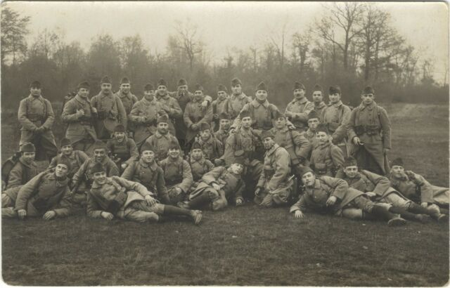 France Militaires Habsheim Mulhouse Guerre Photo sur CP Argentique 1924