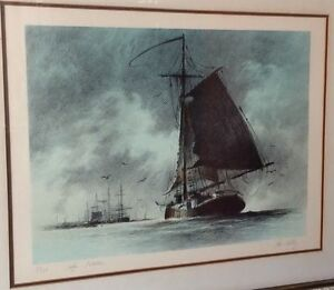 Details about JOHN KELLY Maritime Artist SAFE HAVEN Signed & Numbered  NAUTICAL LITHOGRAPH +COA