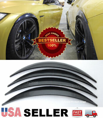 For FORD F-250 Super F-150 Black PVC Wide Body Fender Flares Arch Extension Lip
