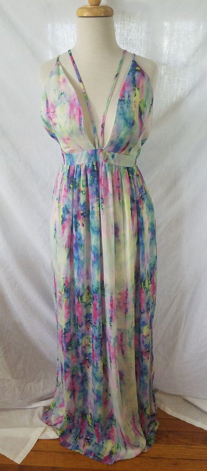 L'Atiste by Amy WaterFarbe  Maxi Dress Größe L AUS  or US Medium  NWT Summer WOW