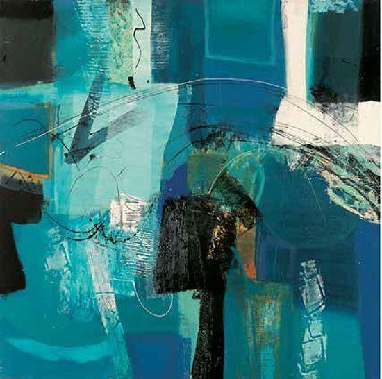 Maurizio Piovan  Trasparenze Keilrahmen-Bild Leinwand abstrakt modern blau