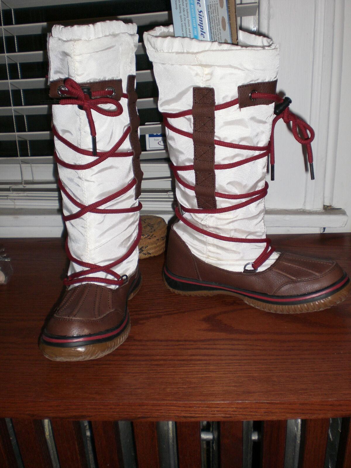 NEW  Pajar White & Tan grip boot woman size 5.5 36
