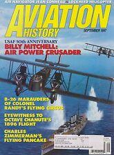 Aviation History (September 1997) (Billy Mitchell, B-26, 1896 Chanute Flight)