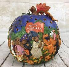 Danbury Mint The Boyds Bear O'Lantern Halloween Lighted Pumpkin 2009 Enesco