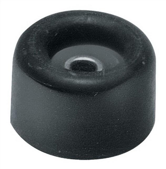 Türpuffer D: 40mm Höhe 40mm rot aus Gummi mit Metallöse, 25 Stück