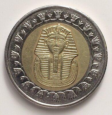 King Tut Egyptian One Pound Bi-Metal Coin 100 Piasters 25mm