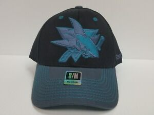 San-Jose-Sharks-Reebok-Black-Cap-Stretch-Fit-Fitted-Hat