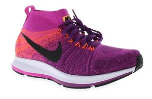 799fe7a5ef808 Nike Girls Youth Zoom Pegasus All Out Flyknit Purple Running Shoes ...