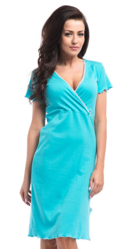 Maternity nursing pregnancy 100/% cotton nightdress nightshirt 8 10 12 14  5070
