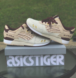 Asics-Tiger-Gel-Lyte-III-Shoes-Bitch-Beige-1191A201-200-Men-039-s-Size-12