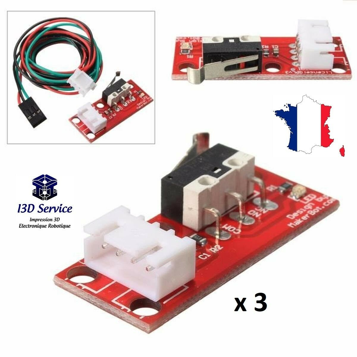 Lot Of 3 Modules Switches Thin Racing For Printers 3D