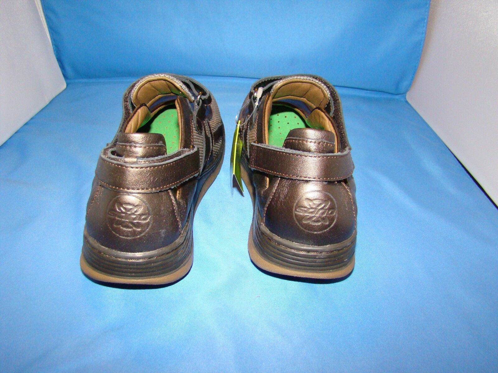 Donna Sano By By Sano Mephisto Excess Mary Jane Shoes Size-8 Bronze Perl Calfskin 7b404b
