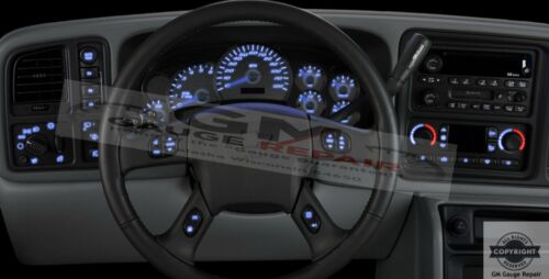 2003 04 05 06 Silverado Tahoe Climate Control Bulb to LED Upgrade Package,Blue