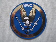 AUTOCOLLANT STICKER AUFKLEBER NWC NAVAL WEAPONS CENTER CHINA LAKE MISSILE NAVY
