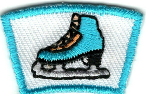 ICE SKATE  SEGMENT Iron On Patch Small Scouts Boy Girl Cub Camping
