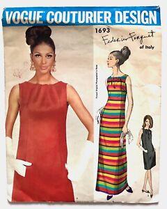 Vintage-1960s-FORQUET-Vogue-Couturier-Design-Sewing-Pattern-Evening-Dress-16