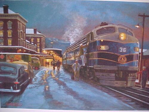 "B/&O /""Cumberland Christmas/""  18X24/"" S//N Railroad Art,Winfield 0610"