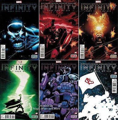 6 INFINITY 1st print Lot Thanos gauntlet Comic SET #1 2 3 4 5 6 MARVEL NOW
