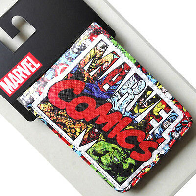 New Marvel Comics LOGO Hero collection wallets Purse 12cm Leather Man women 001