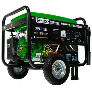 Image Is Loading Duromax Xp4850eh Hybrid Portable Dual Fuel Propane Gas