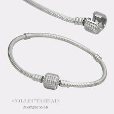 "Authentic Pandora Silver Bracelet with Signature Lock 8.3"" 590723CZ-21"
