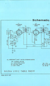 details about nice *copy* bulova lyric am tube type table radio schematic  diagram