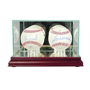 NEW-Double-Baseball-Glass-Display-Case-MLB-NCAA