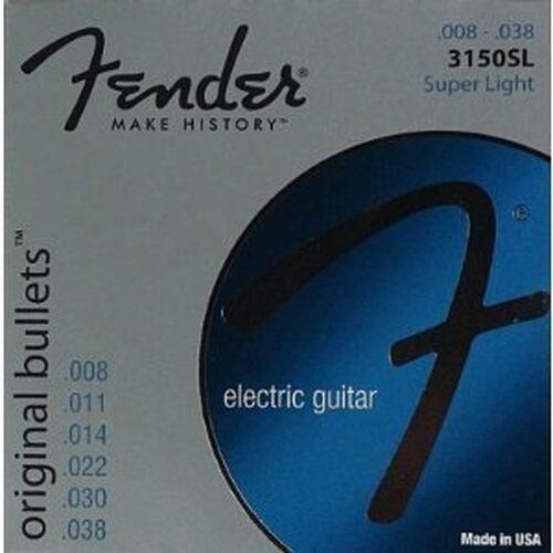 PACKS FENDER 073-0150-401 3150 PURE NICKEL LIGHT ELECTRIC GUITAR STRINGS 2 NEW