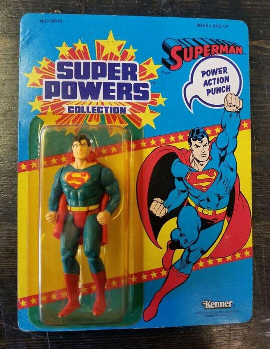 Kenner súper poderes Superman 33-Back 3rd serie offerless Australia Vintage 1986