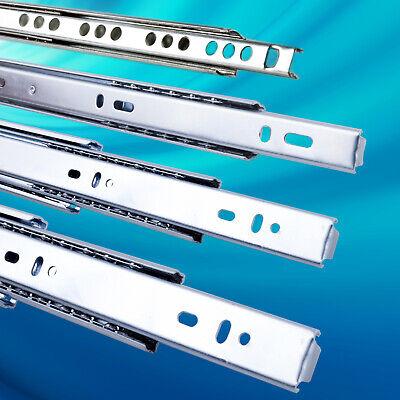 2 x SOFT-CLOSE Schubladenschienen Vollauszug Schubladenauszug Stahl Verzinkt 45 x 250 mm Teleskopschienen