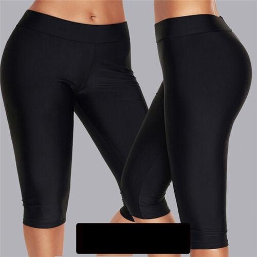 Women High Waist Yoga Sport Gym Pants Scrunch Elastic Push Up Leggings Shorts MA
