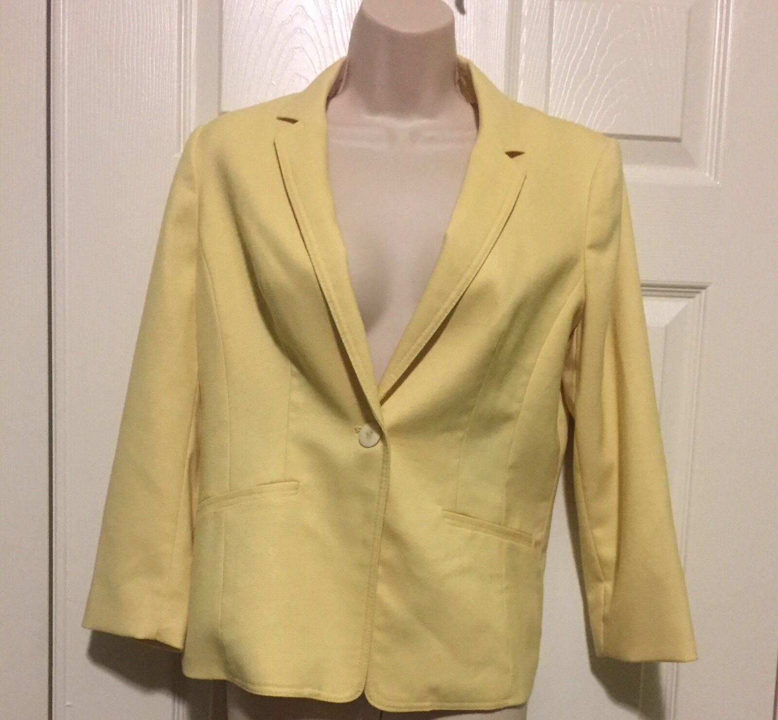 The Limited Yellow One Button Blazer NWT