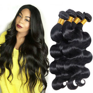 3-Bundles-150g-100-Brazilian-Human-Virgin-Hair-Body-Wave-Weave-Extensions-Weft