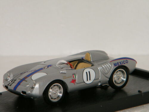 PORSCHE 550A RS SPYDER RIVERSIDE 1957 PILOTE RODRRIGUEZ BRUMM 1//43 Ref R516