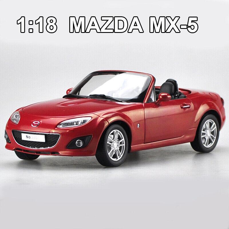 Échelle 1 18 Mazda 5 MX-5 ROADSTER Diecast Voiture Modèle  Collection NEUF en Boîte Voiture Jouets  grandes marques vendent pas cher