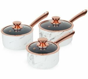 Tour-marbre-OR-ROSE-3-Piece-Pan-marbre-Or-Rose-casseroles-sont-equipes-avec-Set