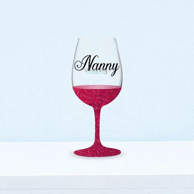 6 X Auntie DIY Mother's Day Vinyl Wine Glass Bauble Decals