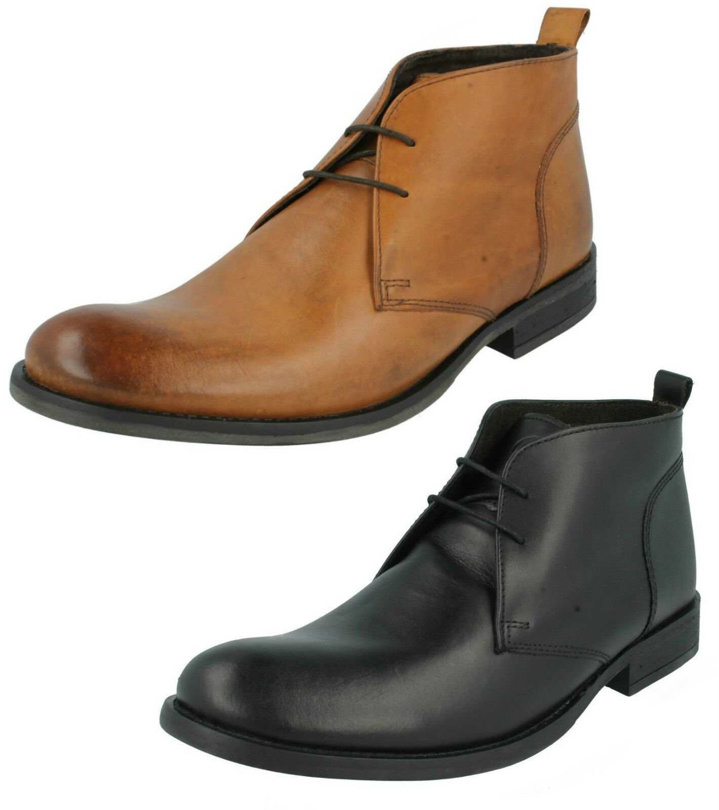 Leather cord mens fashion casual boots up ankle winter