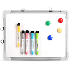 Small Dry Erase Magnetic Portable Hanging Whiteboard Easel Kids Drawing Toy New