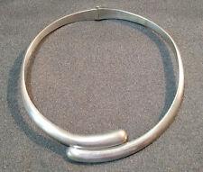 Vintage Sigi Pineda Sterling Silver Modernist Necklace Tasco Taxco 119 Grams!!!