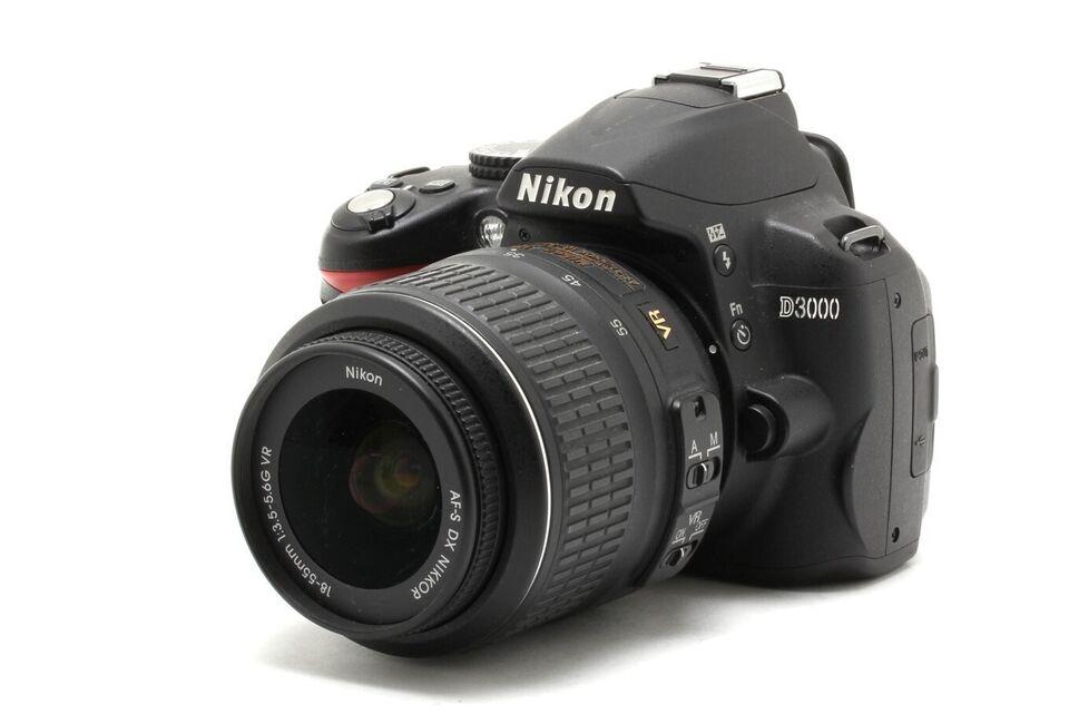 Nikon D3000, spejlrefleks spejlrefleks, megapixels 10