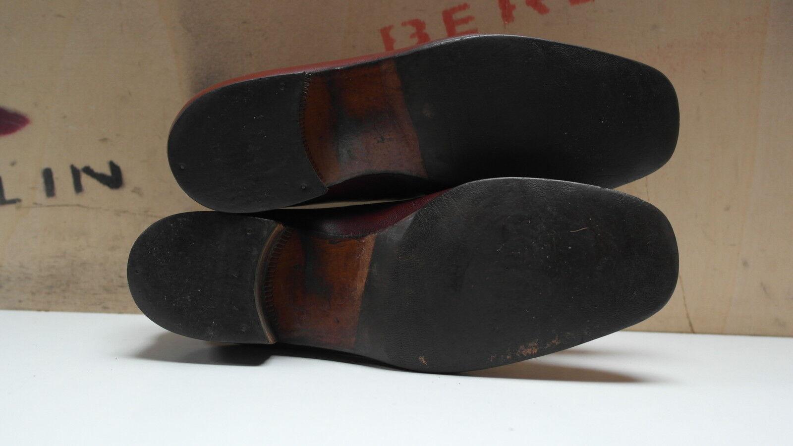 Elegancy Herren Halbschuhe Leder 41 UK 7 Slipper Loafer Loafer Loafer 90er TRUE VINTAGE Schuhe d9c3c9
