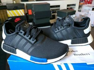 check out 681e3 9a587 Details about Adidas NMD_R1 Runner Nomad Boost Core Black Blue Tab Tokyo  White Mesh S79162 PK