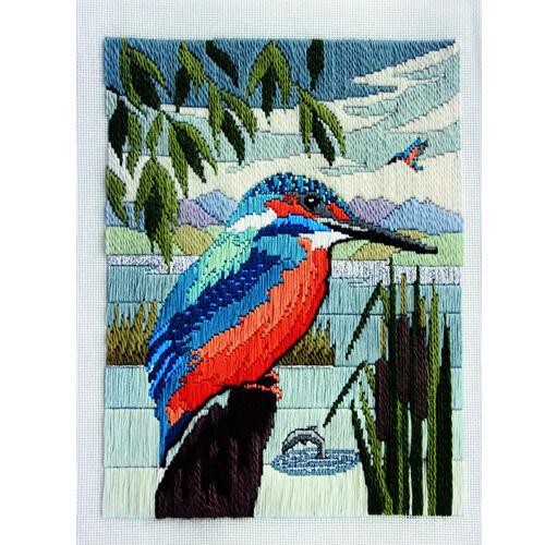 Derwentwater Designs Long Stitch Kit Kingfisher